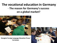 The vocational education in Germany